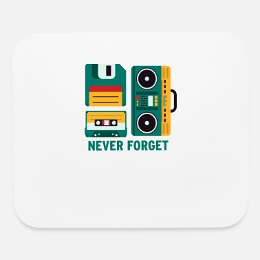 Floppy Disk Never Forget Never Forget Tape Floppy Disk Boom Box - Mouse Pad