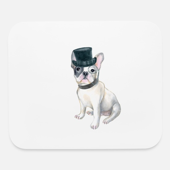 bf583e09 Meme Mouse Pads - Frenchie French Bulldog Top Hat monocle Dogs In - Mouse  Pad white