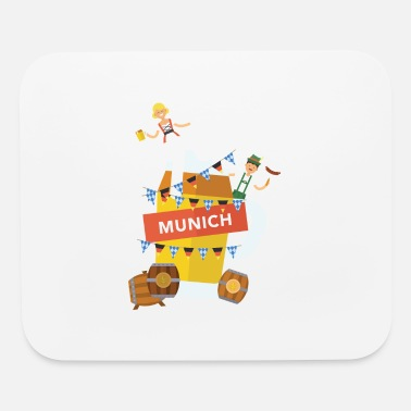 Facet Munich Beer and Oktoberfest Shirt - Mouse Pad