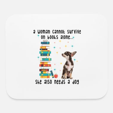 BOOK AND CHIHUAHUA - Mouse Pad