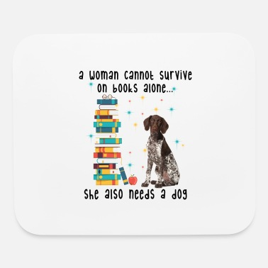 BOOK AND GERMAN SHORTHAIRED POINTER - Mouse Pad