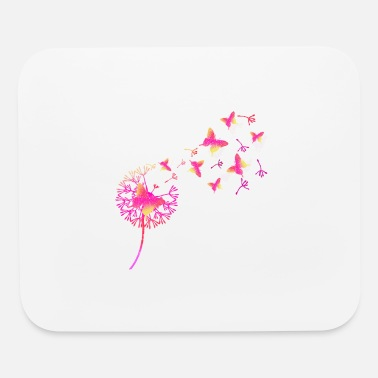 Butterfly and dandelion ID2 16-07 - Mouse Pad