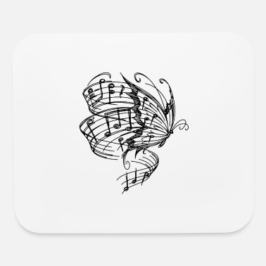 BUTTERLFY MUSIC NOTES - Mouse Pad