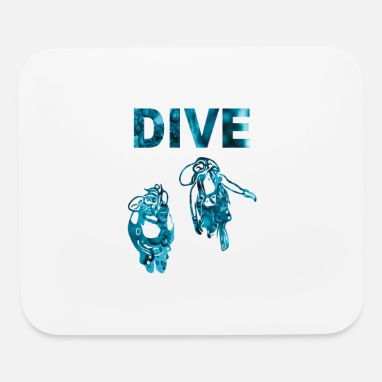 Diving Gift Mouse Pads - DIVE - Mouse Pad white