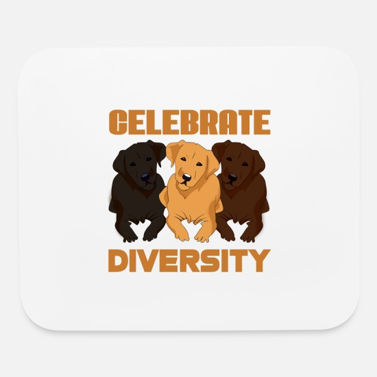 Dog Owner Mouse Pads - Celebrate Diversity - Mouse Pad white