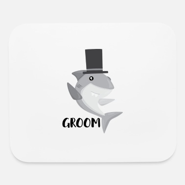 Wedding Shark Groom, Future Husband, Shark Wedding Couple Lovers - Mouse Pad