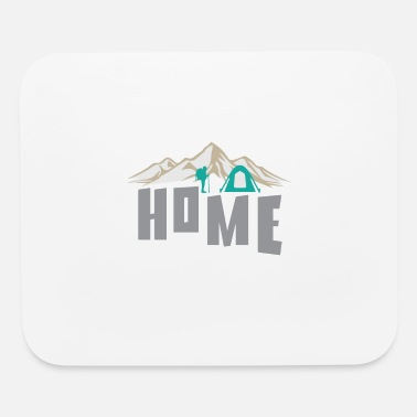 Mountain Sports Home in the mountains camping tent mountain sports - Mouse Pad