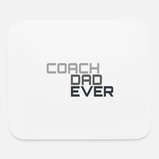 Dad Mouse Pads - Best Coach Dad Ever - Mouse Pad white