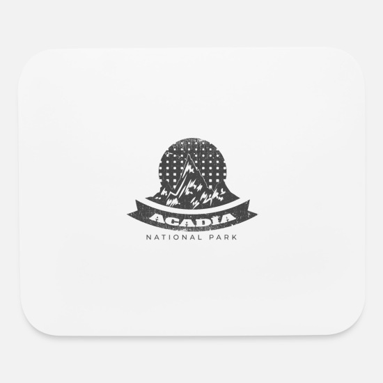 National Mouse Pads - Acadia National Park - Mouse Pad white