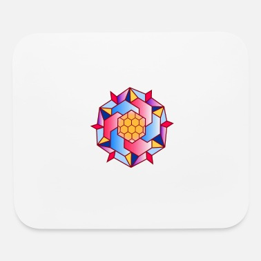 Round Geometric colorful figure abstract - Mouse Pad