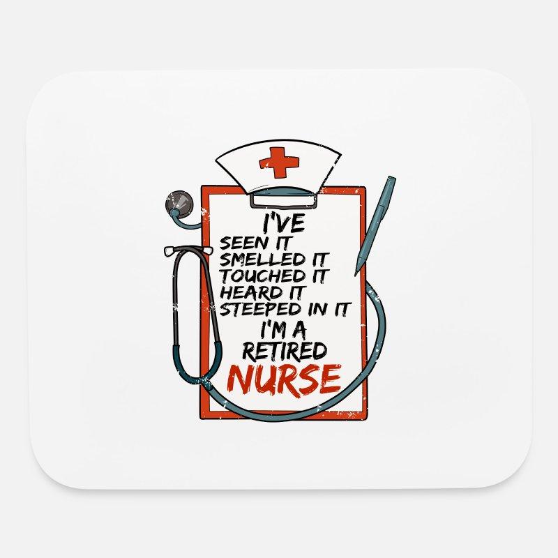Mouse PadRetired Nurse Stab Hospital Medical Gift Idea