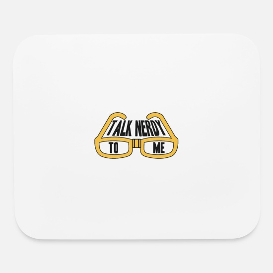 Geek Mouse Pads - Talk Nerdy - Mouse Pad white