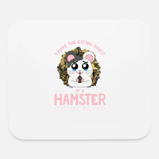 Gift Idea Mouse Pads - Hamster Food Feed Grains Rodent Animal - Mouse Pad white