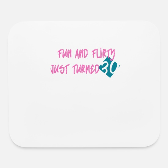 30th Birthday Mouse Pads - 30th Birthday Present Funny Saying 30 Years - Mouse Pad white