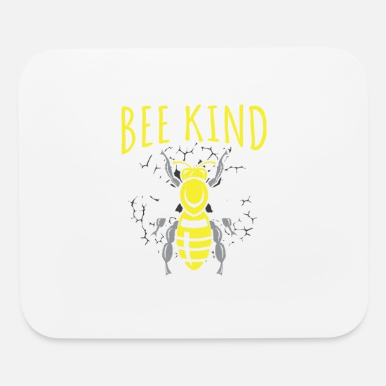 Kind Mouse Pads - Bee Kind - Mouse Pad white