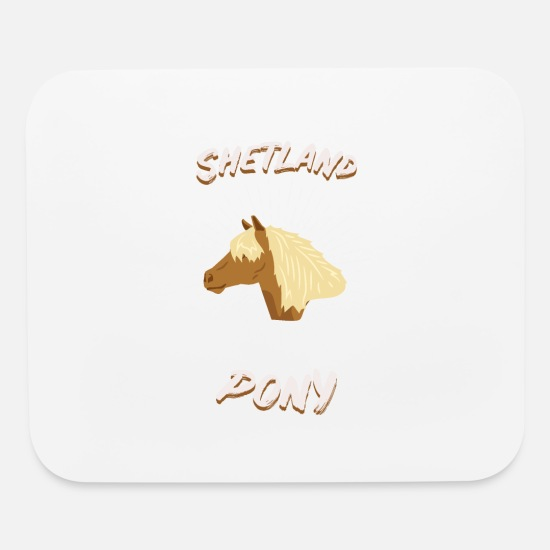 Horseshoe Mouse Pads - Shetland Pony Horseman Race Gift Woman Girls - Mouse Pad white
