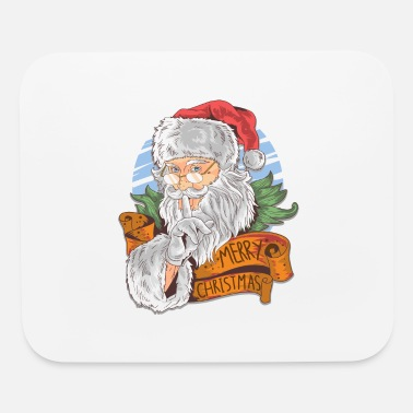 Christmas Merry Christmas with vintage Santa Claus - Mouse Pad
