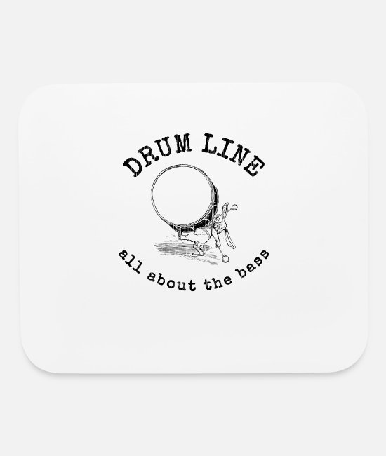 Bass Mouse Pads - Drum Line - All about the bass - Mouse Pad white