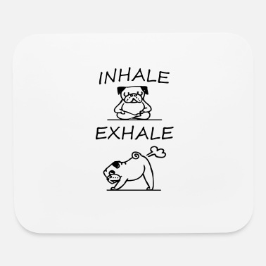 French Bulldog Yoga Inhale exhale T-shirt - Mouse Pad