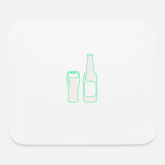 Birthday Mouse Pads - A pint - Mouse Pad white