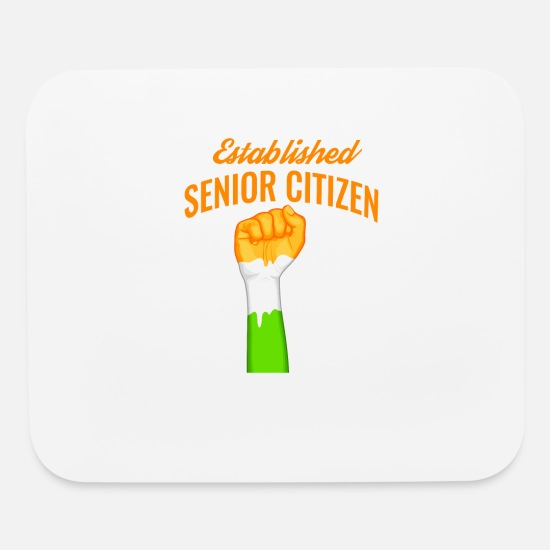 Senior Mouse Pads - india establish senior citizen design - Mouse Pad white