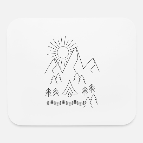 Outdoor Mouse Pads - Camping - Mouse Pad white