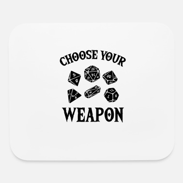 Rpg RPG gamers weapon dice RPG LARP gift - Mouse Pad