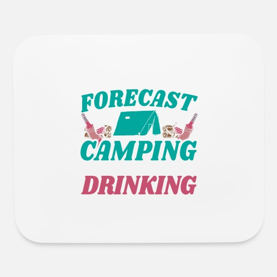 Tent Mouse Pads - Camping Drink Tent Caravan Adventure Gift - Mouse Pad white