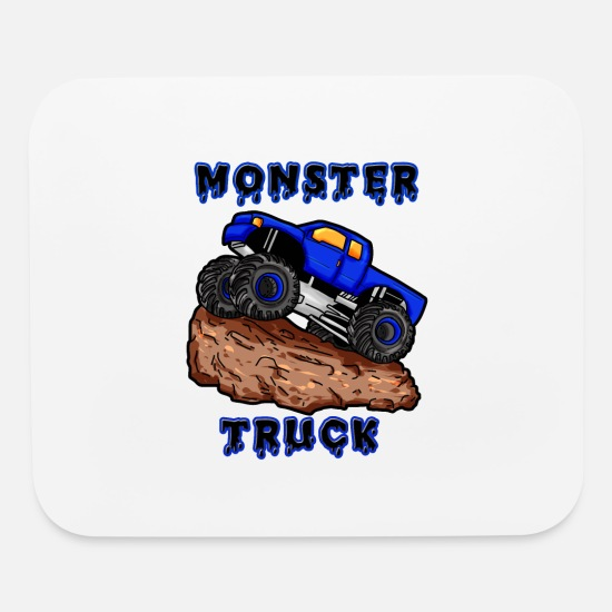 Truck Mouse Pads - Monster Truck - Mouse Pad white