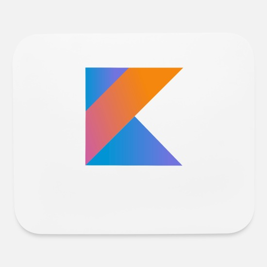 Kotlin Mouse Pads - programmer pc computer nerd open source coder K - Mouse Pad white