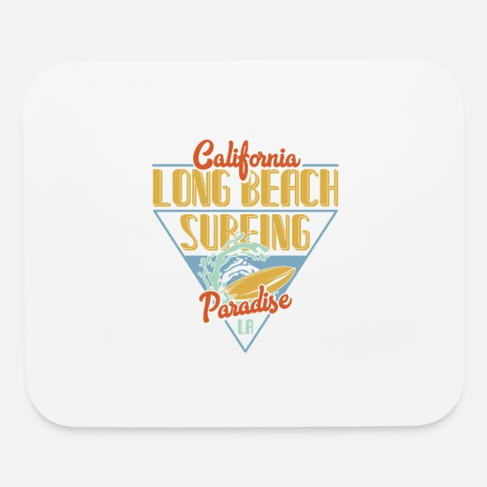Paradise Mouse Pads - California long beach surfing paradise - Mouse Pad white