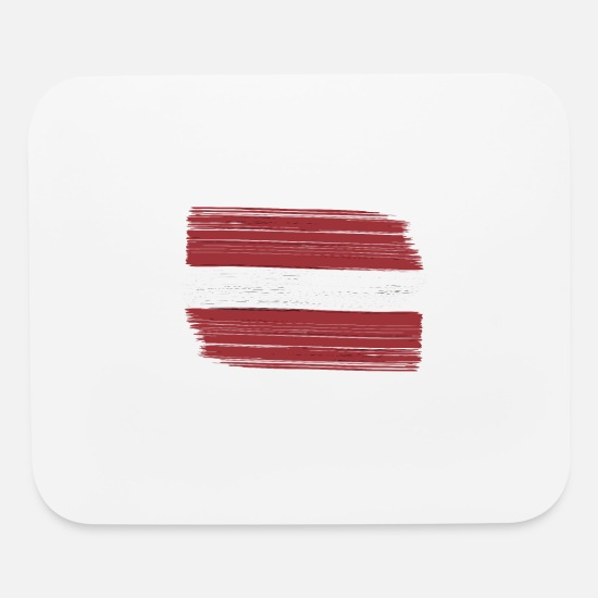 Country Mouse Pads - Latvia with national flag for lovers and freaks - Mouse Pad white