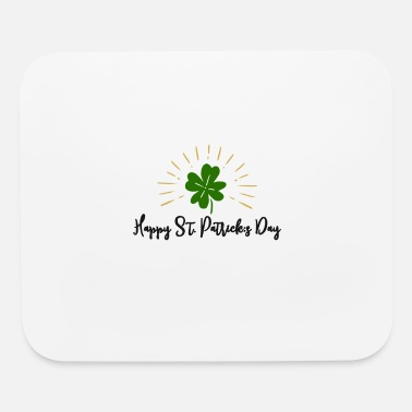 Happy St. Patricks Day with cloverleaf - Mouse Pad