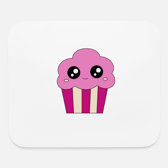 Pink Mouse Pads - Happy cupcake - Mouse Pad white
