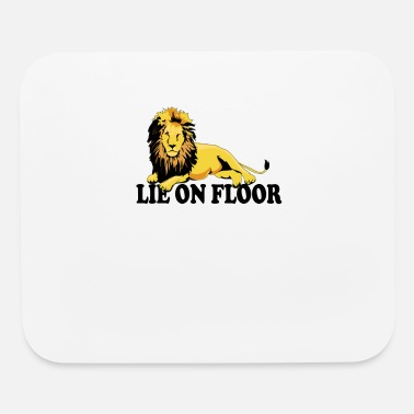 Floor Lion on Floor (Lie on Floor) - Mouse Pad