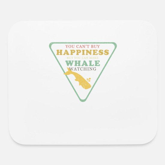 Whale Mouse Pads - Whale watching happiness - gift - Mouse Pad white