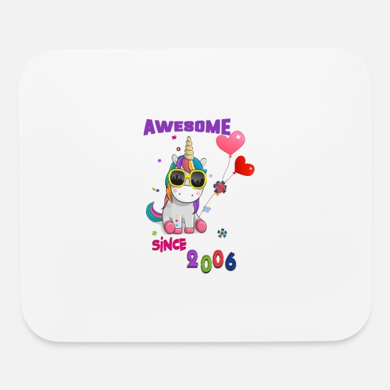 2006 Mouse Pads - Unicorn Awesome Since 2006 - Mouse Pad white