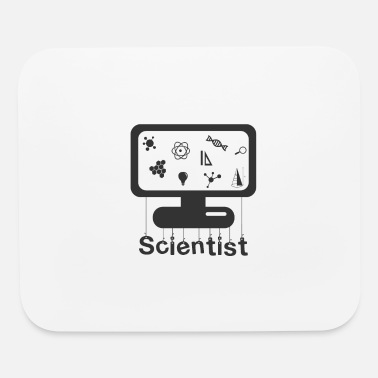 Monitoring Scientist on monitor - Mouse Pad