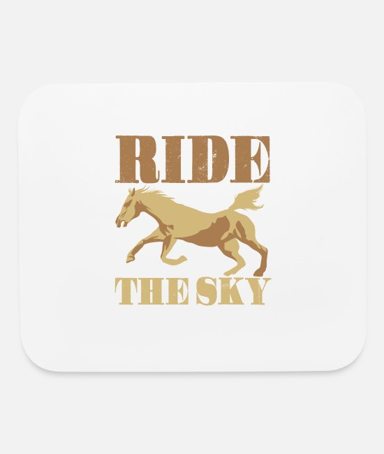 Riding Mouse Pads - Ride the Sky - Mouse Pad white