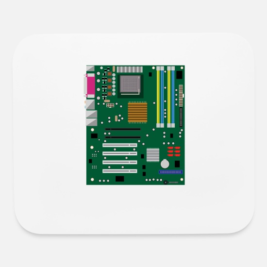 Data Mouse Pads - Computer Engineering Motherboard Hardware Admin - Mouse Pad white