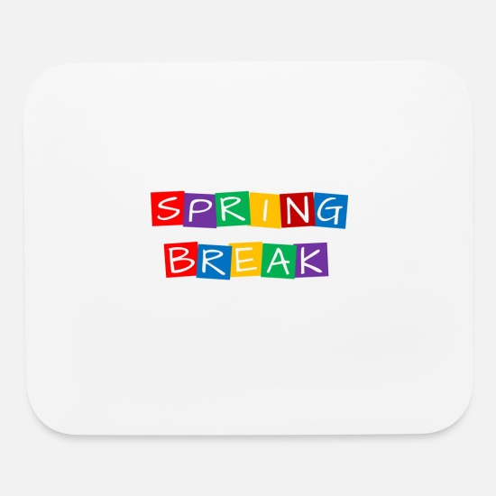 Break Dance Mouse Pads - spring break colorful rotated squares - Mouse Pad white