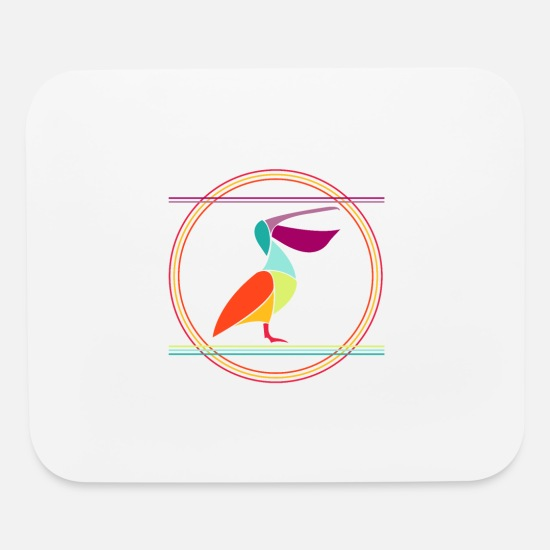 Birthday Mouse Pads - Pelican - Mouse Pad white