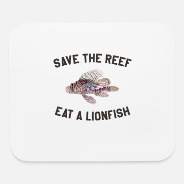 Firefish Save The Reef Eat A Lionfish design Diving graphic - Mouse Pad