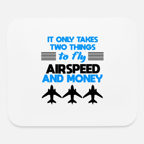 Funny Pilot Quote Pilots Gift Mouse Pad Horizontal White