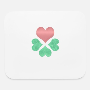 Heart and Clover Trending Gift - Mouse Pad