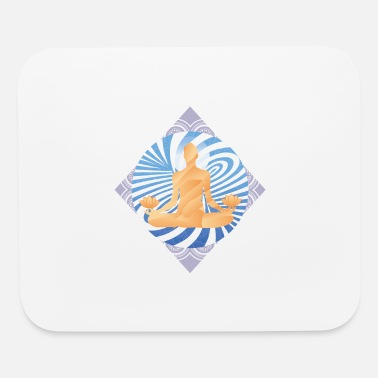 Buddhist Meditation buddhist energy swirl - Mouse Pad