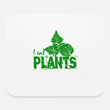 Leave I eat vegan plants - Mouse Pad