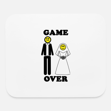 Game Over - Marriage game over Marriage bachelor - Mouse Pad