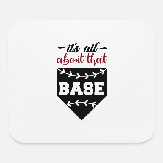 College Mouse Pads - FUNNY COOL CUTE BASEBALL graphic - ALL ABOUT THAT - Mouse Pad white