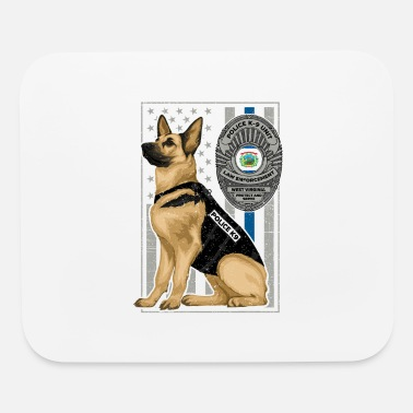 German Shepherd K9 Unit Flag WEST VIRGINIA copy - Mouse Pad
